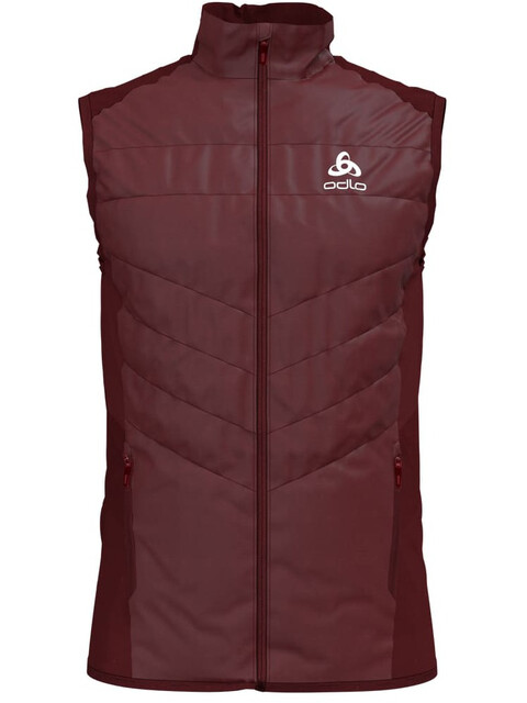 Odlo Irbis X-Warm Hybrid Vest Seamless Men syrah-fiery red